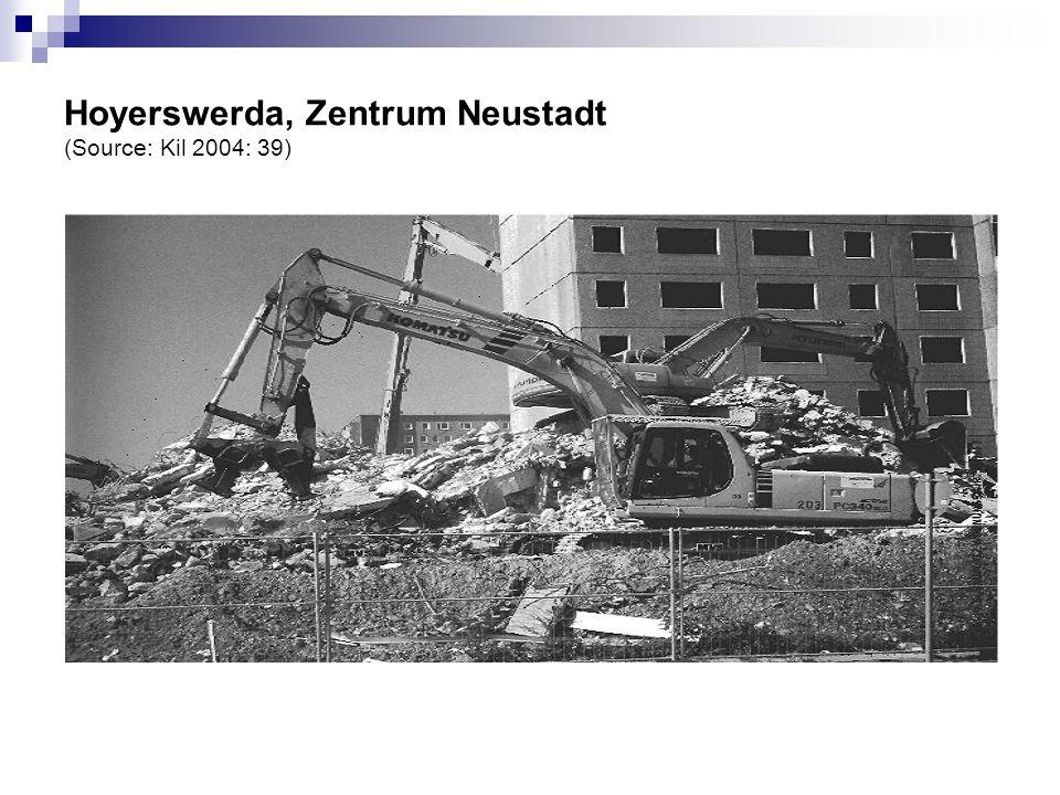 Hoyerswerda, Zentrum Neustadt (Source: Kil 2004: 39)