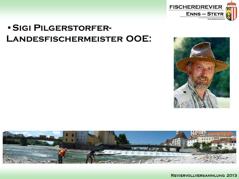 Sigi Pilgerstorfer- Landesfischermeister OOE: Reviervollversammlung 2013