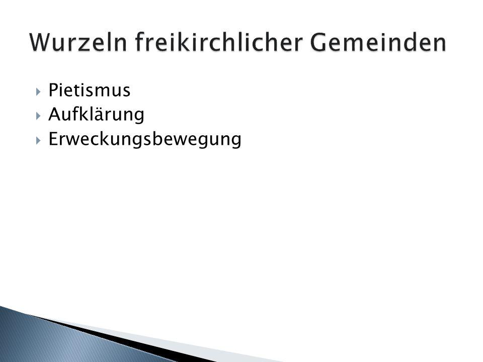 Württemberg 1743: Pietistenreskript Preußen 1788: Woellnersches Religionsedikt Preußisches Allgemeines Landrecht 1794 zwei legale Rechtsformen von Religionsgesellschaften: öffentlich-rechtliche Körperschaften (privilegierte Korporationen) geduldete Gesellschaften
