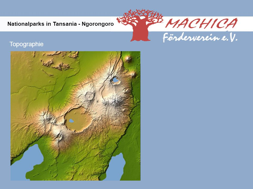 Topographie Nationalparks in Tansania - Ngorongoro