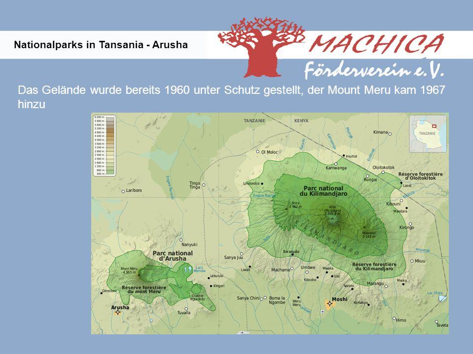 Das Gelände wurde bereits 1960 unter Schutz gestellt, der Mount Meru kam 1967 hinzu