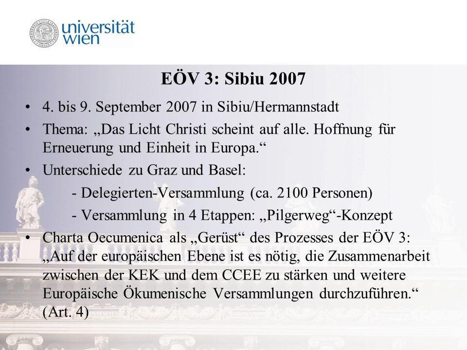 EÖV 3: Sibiu 2007 4. bis 9.