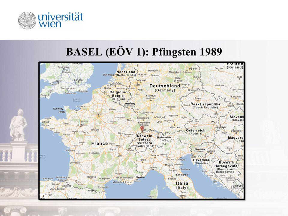 EÖV 1: Basel 1989 15.bis 21. Mai 1989 in Basel ca.