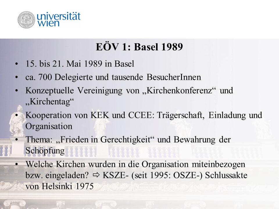 EÖV 1: Basel 1989 15. bis 21. Mai 1989 in Basel ca.