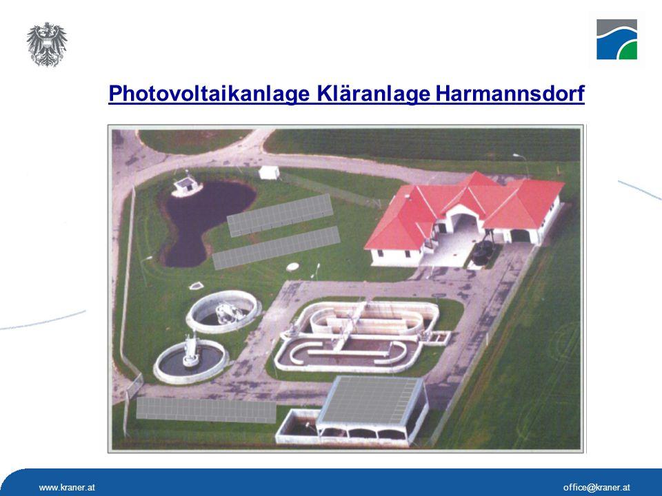 www.kraner.atoffice@kraner.at f Photovoltaikanlage Kläranlage Harmannsdorf