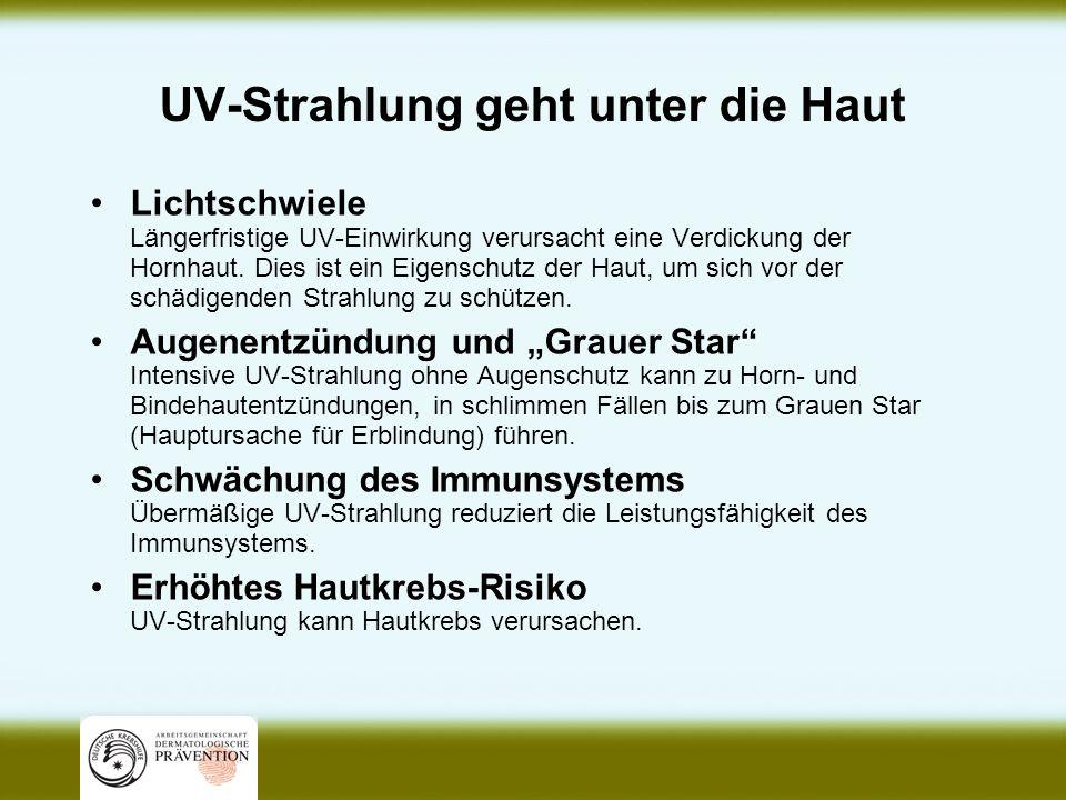 Der UV-Index