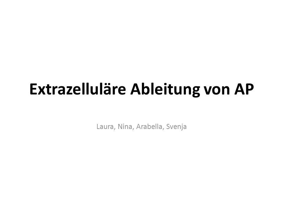 Extrazelluläre Ableitung von AP Laura, Nina, Arabella, Svenja