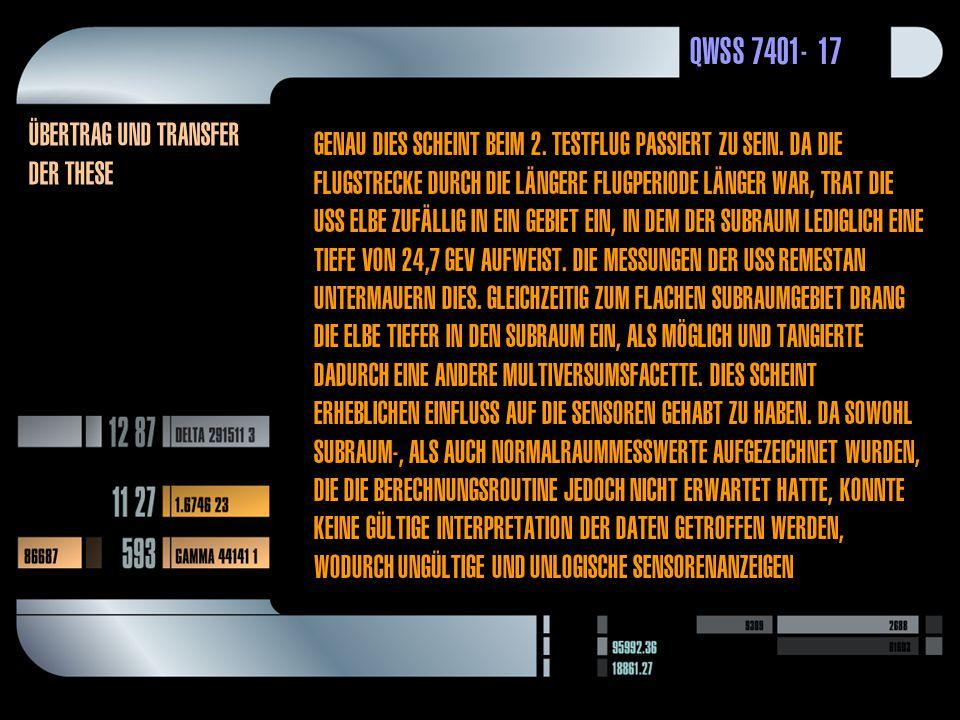 QWSS 7401-17 Übertrag und transfer der these Genau dies scheint beim 2.