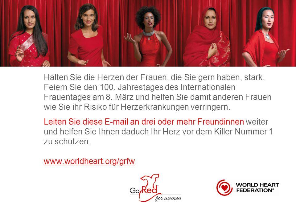 Halten Sie die Herzen der Frauen, die Sie gern haben, stark. Feiern Sie den 100. Jahrestages des Internationalen Frauentages am 8. März und helfen Sie