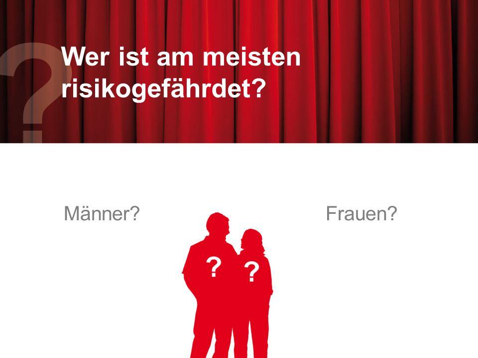 Wer ist am meisten risikogefährdet? Männer?Frauen?