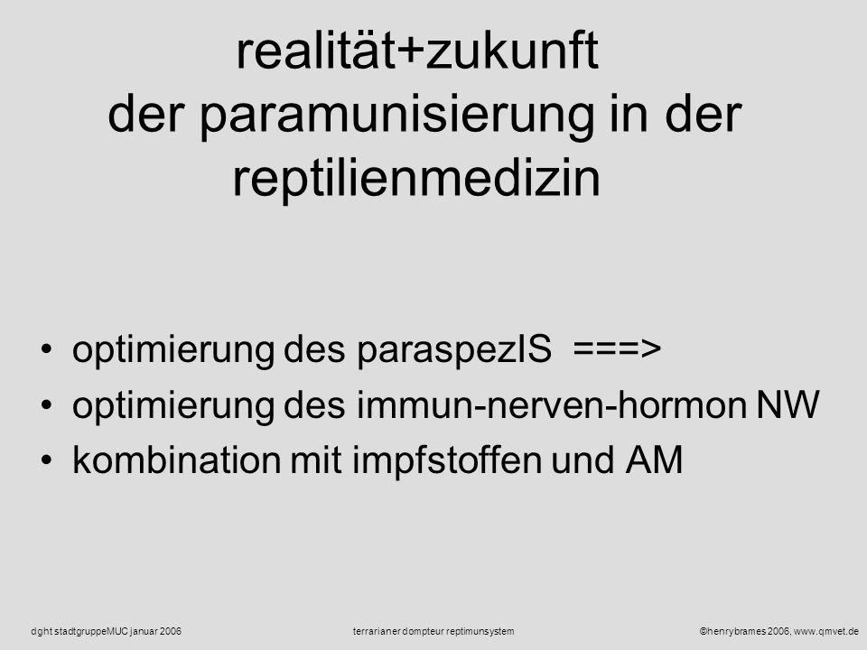 ©henrybrames 2006, www.qmvet.deterrarianer dompteur reptimunsystemdght stadtgruppeMUC januar 2006 potential der paramunisierung in der reptilien praxi