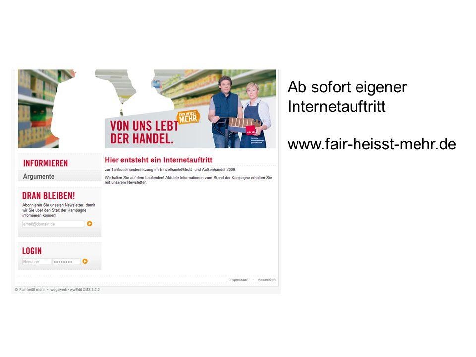 Ab sofort eigener Internetauftritt www.fair-heisst-mehr.de