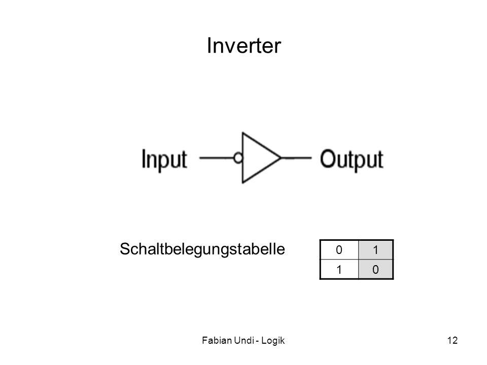 Fabian Undi - Logik12 Inverter 01 10 Schaltbelegungstabelle