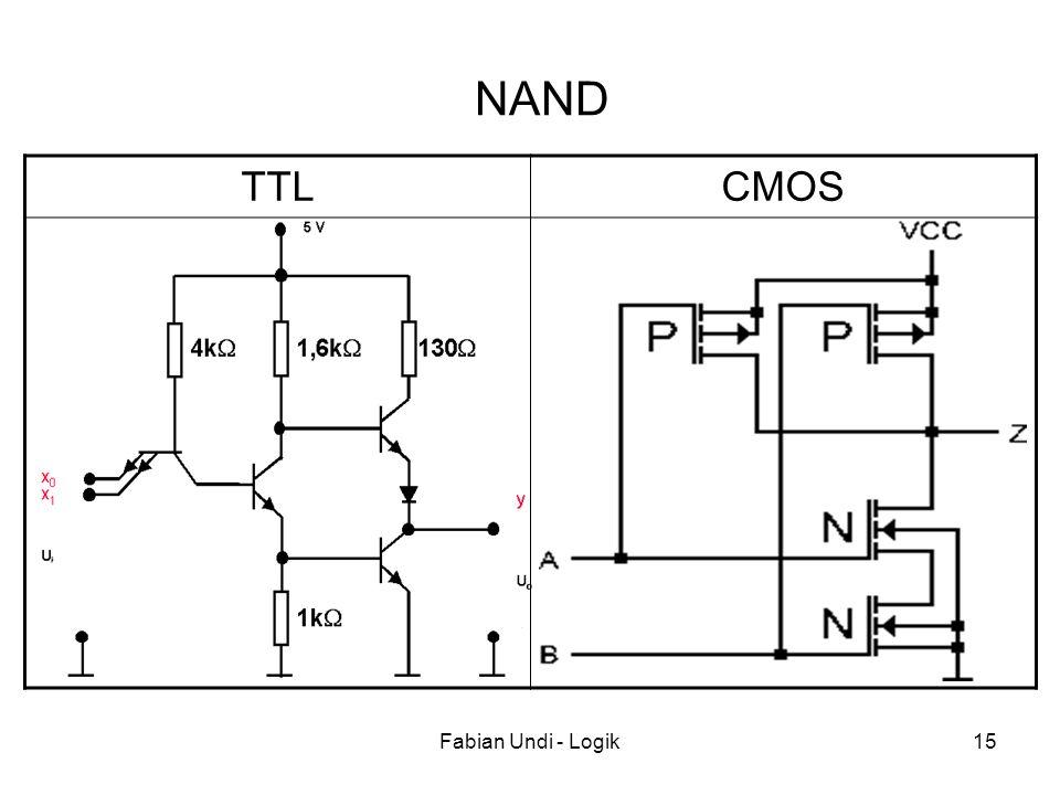 Fabian Undi - Logik15 TTLCMOS NAND
