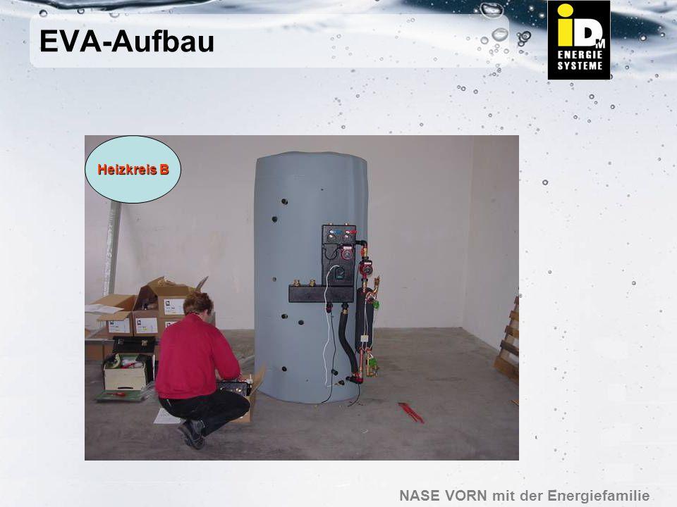 NASE VORN mit der Energiefamilie EVA-Aufbau Heizkreis A Montage