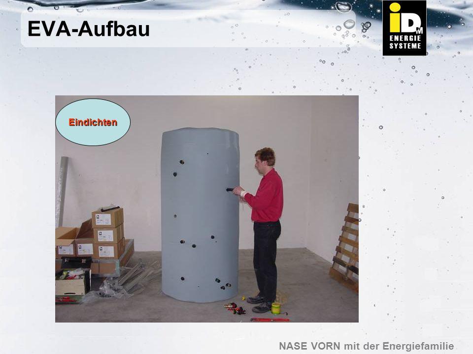 NASE VORN mit der Energiefamilie EVA-Aufbau MontageSolarmodul