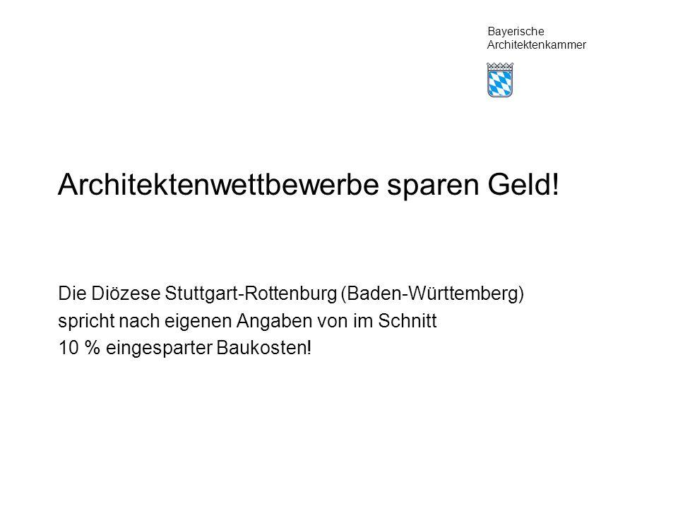 Bayerische Architektenkammer Architektenwettbewerbe sparen Geld.