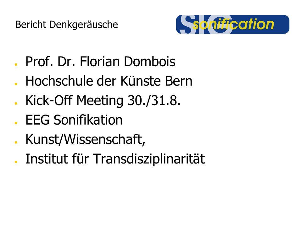 Bericht Denkgeräusche Prof. Dr.