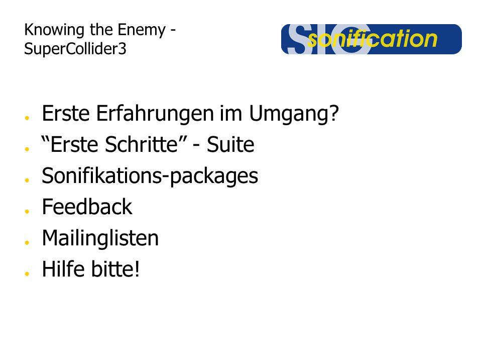 Knowing the Enemy - SuperCollider3 Erste Erfahrungen im Umgang.