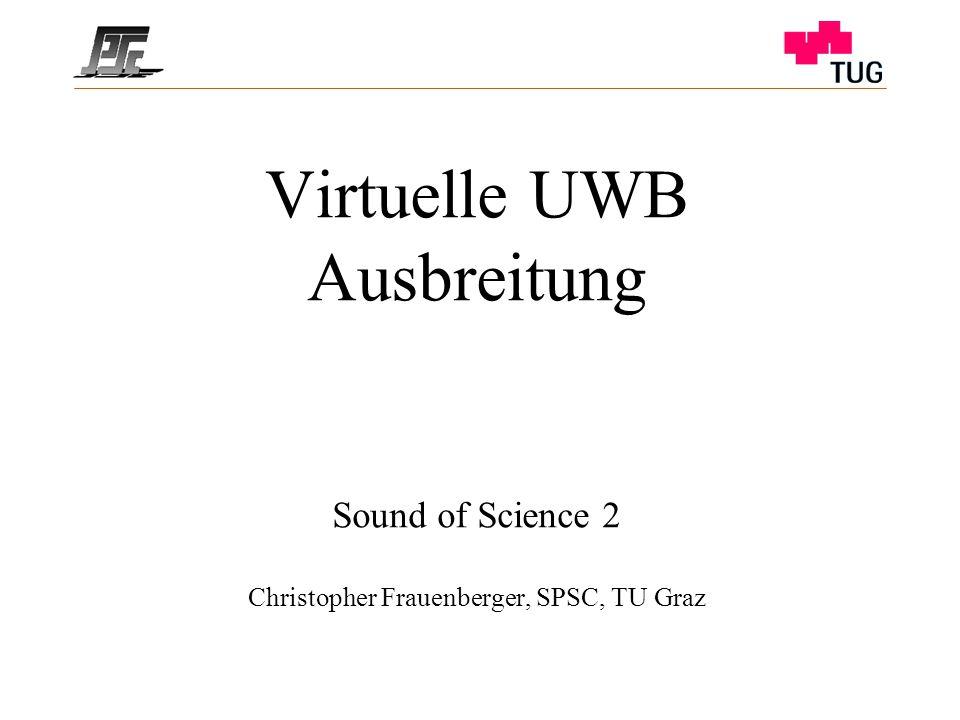 Virtuelle UWB Ausbreitung Sound of Science 2 Christopher Frauenberger, SPSC, TU Graz