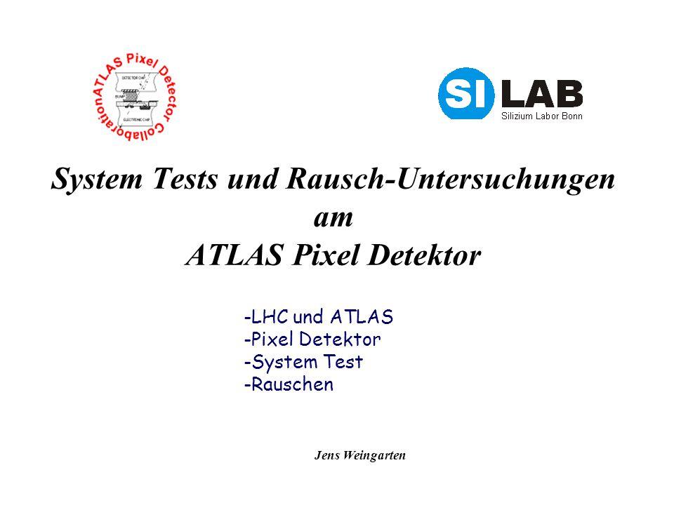 Jens Weingarten System Tests und Rausch-Untersuchungen am ATLAS Pixel Detektor -LHC und ATLAS -Pixel Detektor -System Test -Rauschen