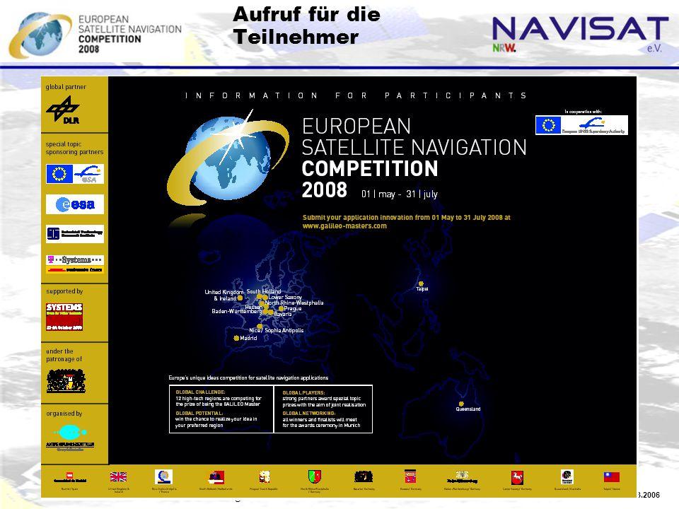 20.03.2006 NAVISAT-Vorlage 2 Aufruf für die Teilnehmer