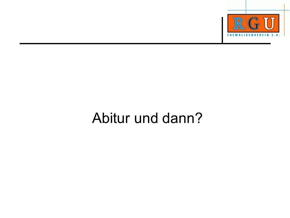 Abitur und dann?