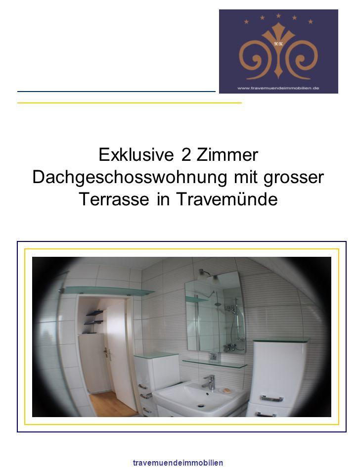 travemuendeimmobilien Exklusive 2 Zimmer Dachgeschosswohnung mit grosser Terrasse in Travemünde