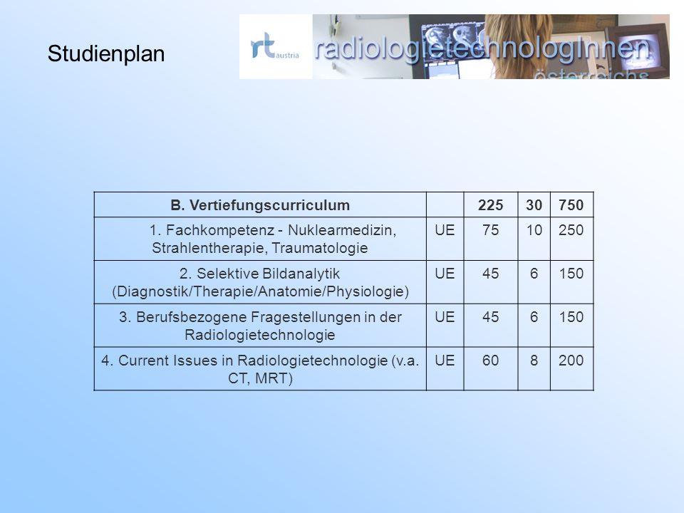 B. Vertiefungscurriculum22530750 1.