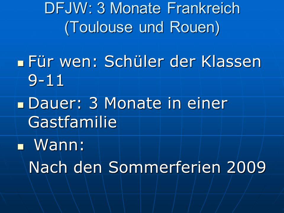 Kosten: Kosten: Anfahrt (Fahrtkostenzuschuss) (Maßnahme auf Gegenseitigkeit) - Bewerbungsschluss: 31.10.2008 31.10.2008 Weitere Infos: www.echanges.nibis.de