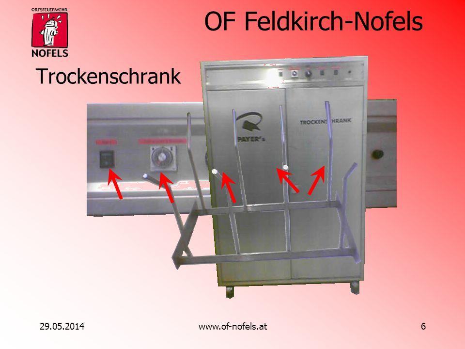 OF Feldkirch-Nofels 29.05.2014www.of-nofels.at6 Trockenschrank
