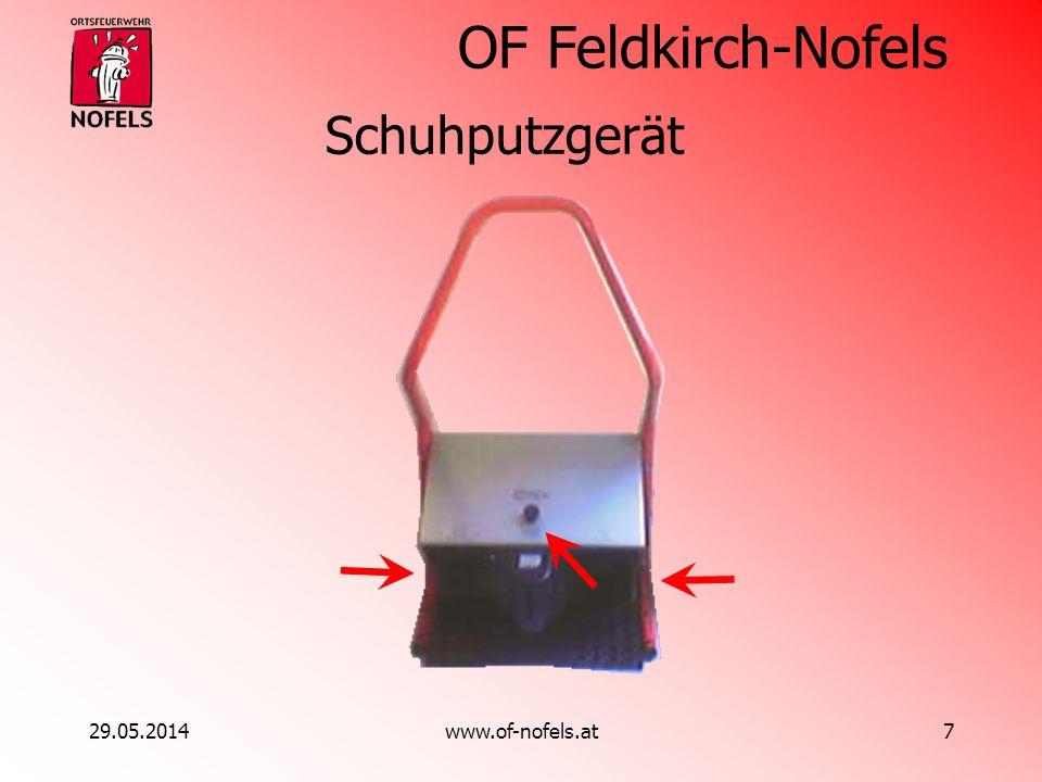 OF Feldkirch-Nofels 29.05.2014www.of-nofels.at7 Schuhputzgerät