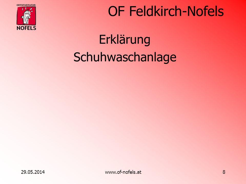 OF Feldkirch-Nofels 29.05.2014www.of-nofels.at8 Erklärung Schuhwaschanlage