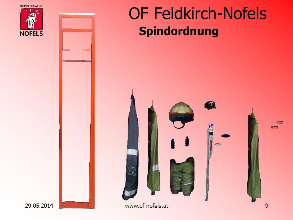 OF Feldkirch-Nofels 29.05.2014www.of-nofels.at9 Spindordnung