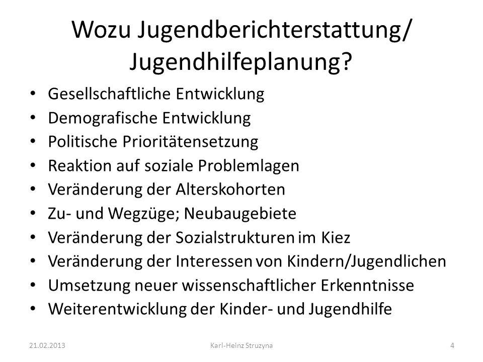 Aktuelle Herausforderungen für die Jugendberichterstattung auf kommuner Ebene Bereichsübergreifende Planung und Koordinierung (z.