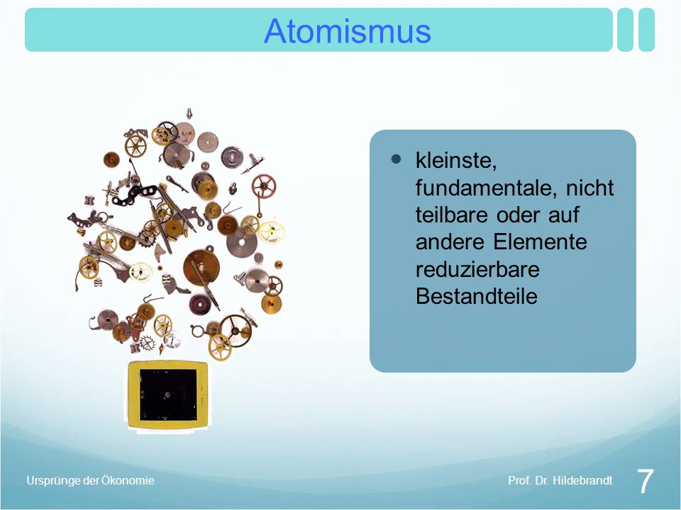 Atomismus 7 Prof.Dr.