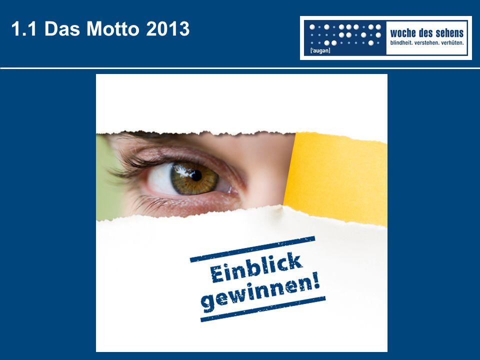 1.2 Die Ziele der Kampagne … die Bedeutung guten Seh- vermögens … die Ursachen vermeidbarer Erblindung … die Situation sehbehinderter & blinder Menschen Aufmerksam auf… machen