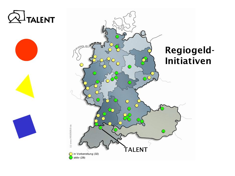 Regiogeld- Initiativen TALENT