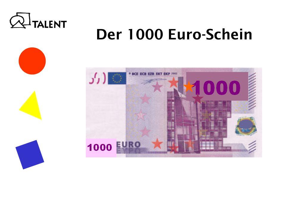 Der 1000 Euro-Schein