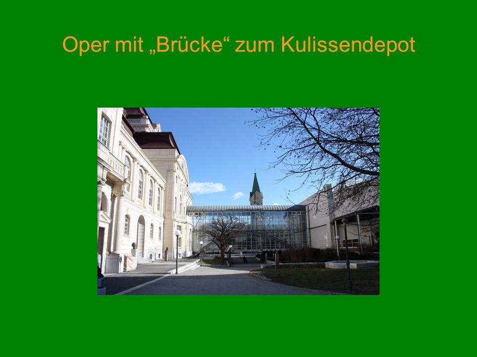 Oper mit Brücke zum Kulissendepot