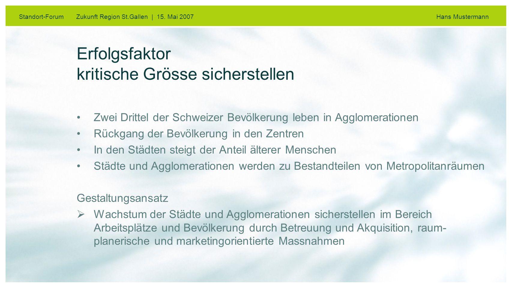 Standort-Forum Zukunft Region St.Gallen | 15.