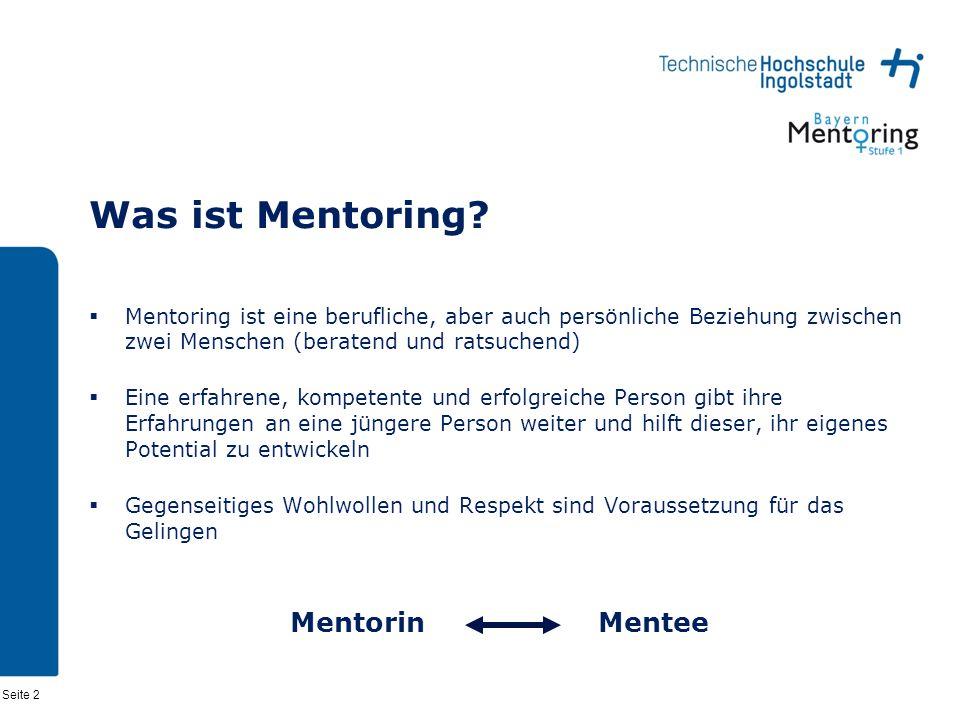 Seite 2 Was ist Mentoring.