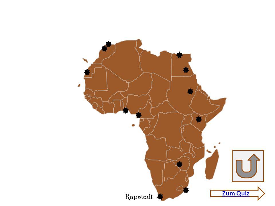 Quiz Afrika 12 Städte.