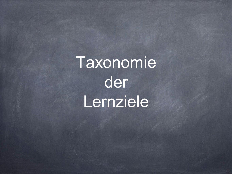 Taxonomie der Lernziele