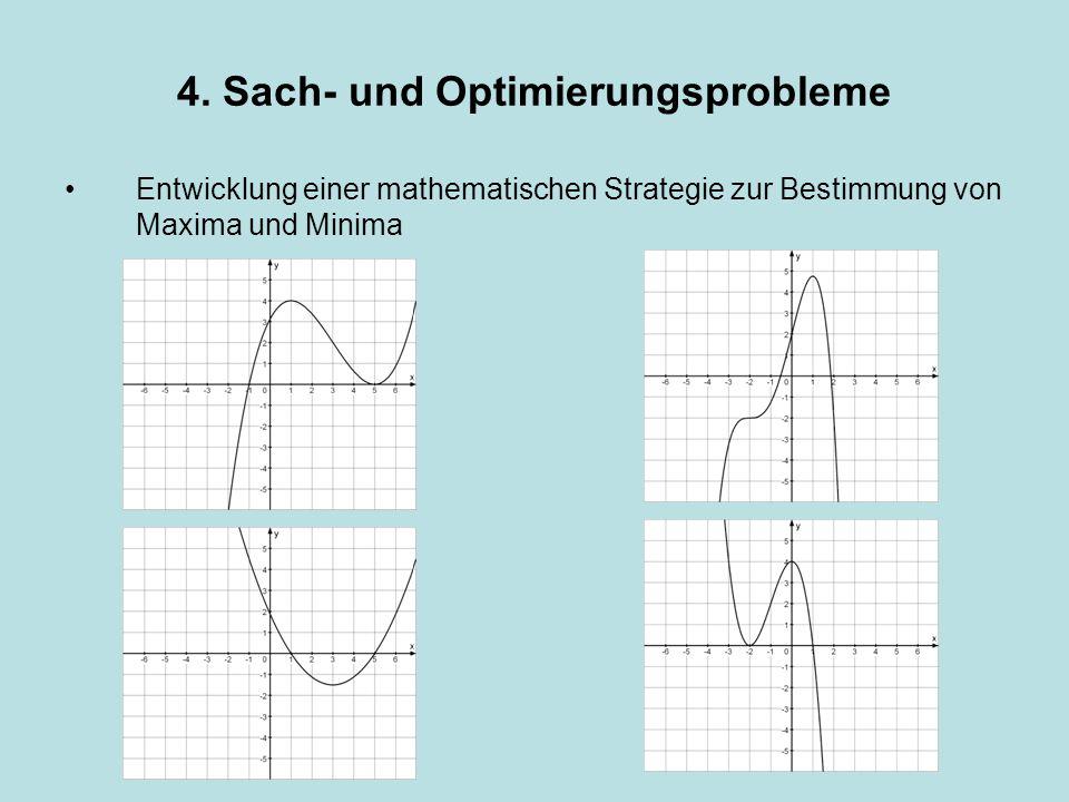 Entwicklung einer mathematischen Strategie zur Bestimmung von Maxima und Minima