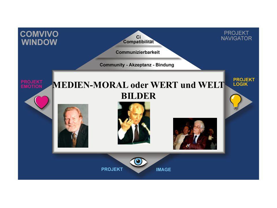 MEDIEN-MORAL oder WERT und WELT BILDER
