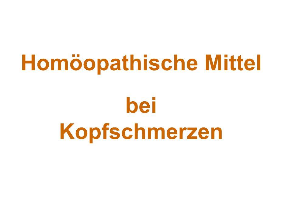 Homöopathische Mittel bei Kopfschmerzen