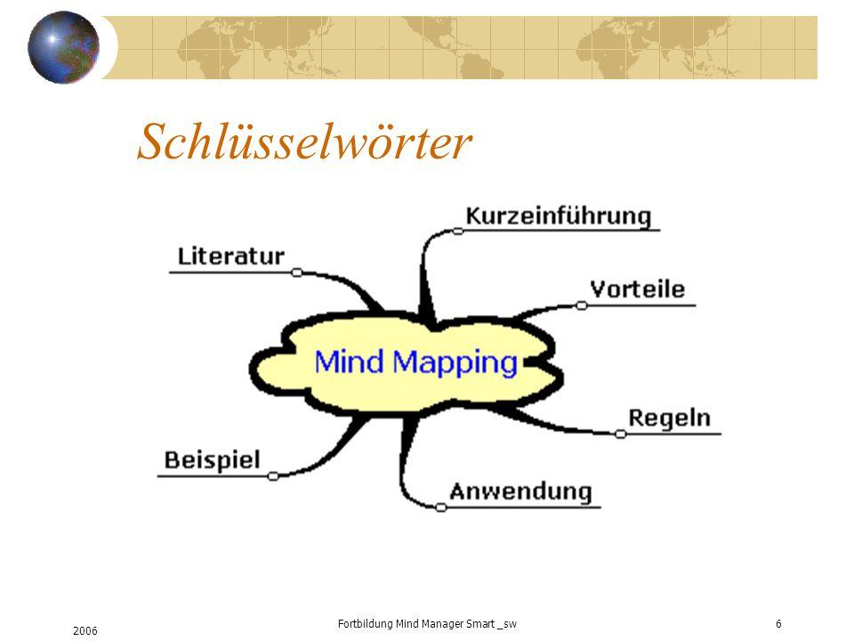2006 Fortbildung Mind Manager Smart _sw6 Schlüsselwörter