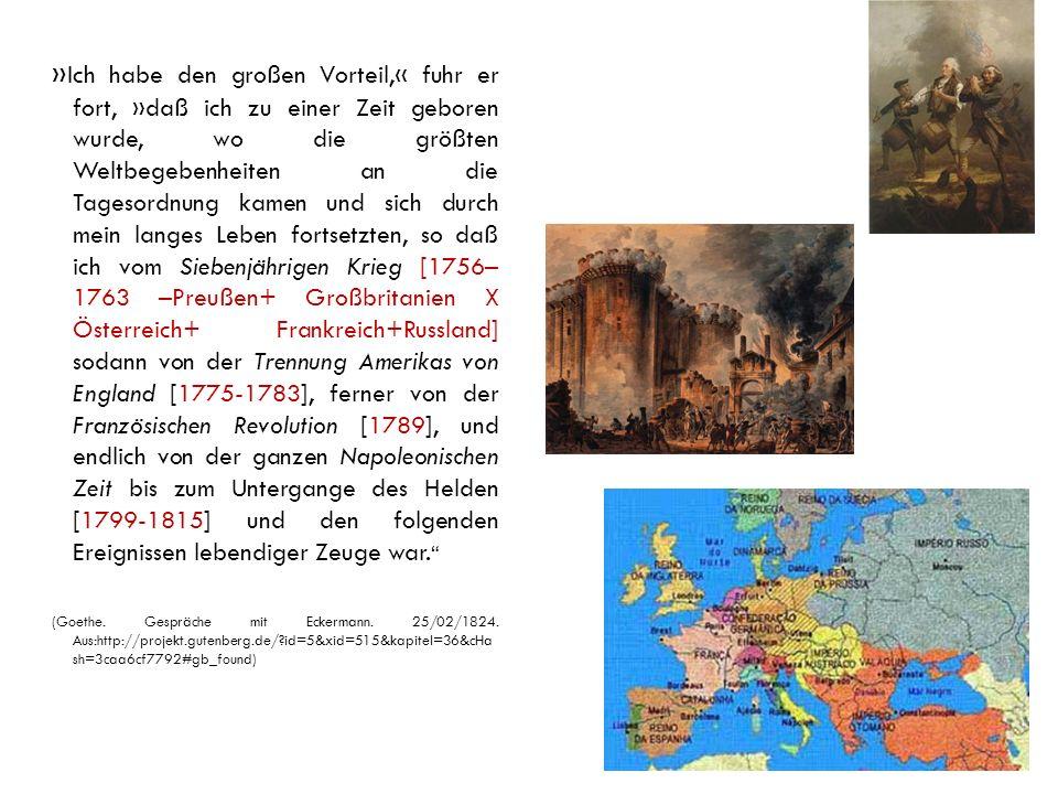 Wichtige Daten der europäischen Geschichte 1789 – Französische Revolution 1795 – Friede zw.