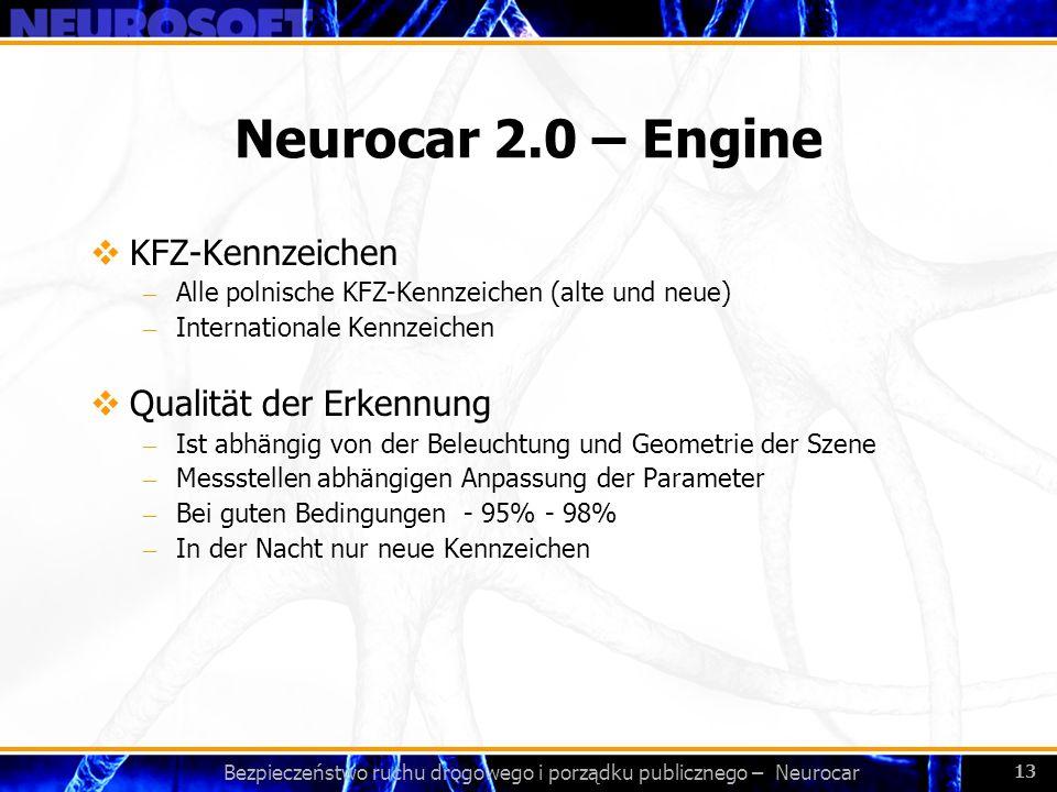 Bezpieczeństwo ruchu drogowego i porządku publicznego – Neurocar 13 Neurocar 2.0 – Engine KFZ-Kennzeichen – Alle polnische KFZ-Kennzeichen (alte und n